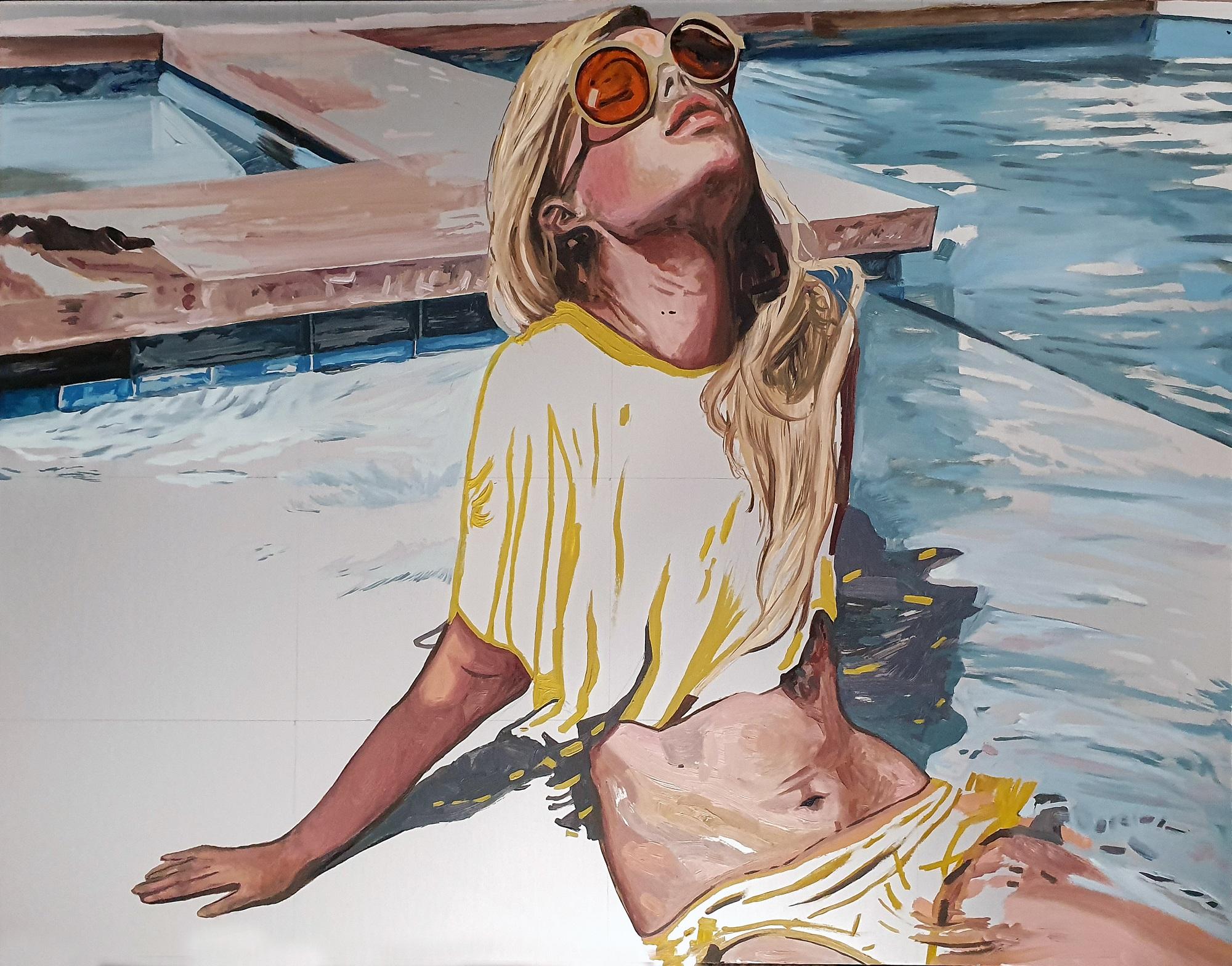 Sun Rays Amanda Mulquiney Oil on Aluminium, 14 x 18 in.