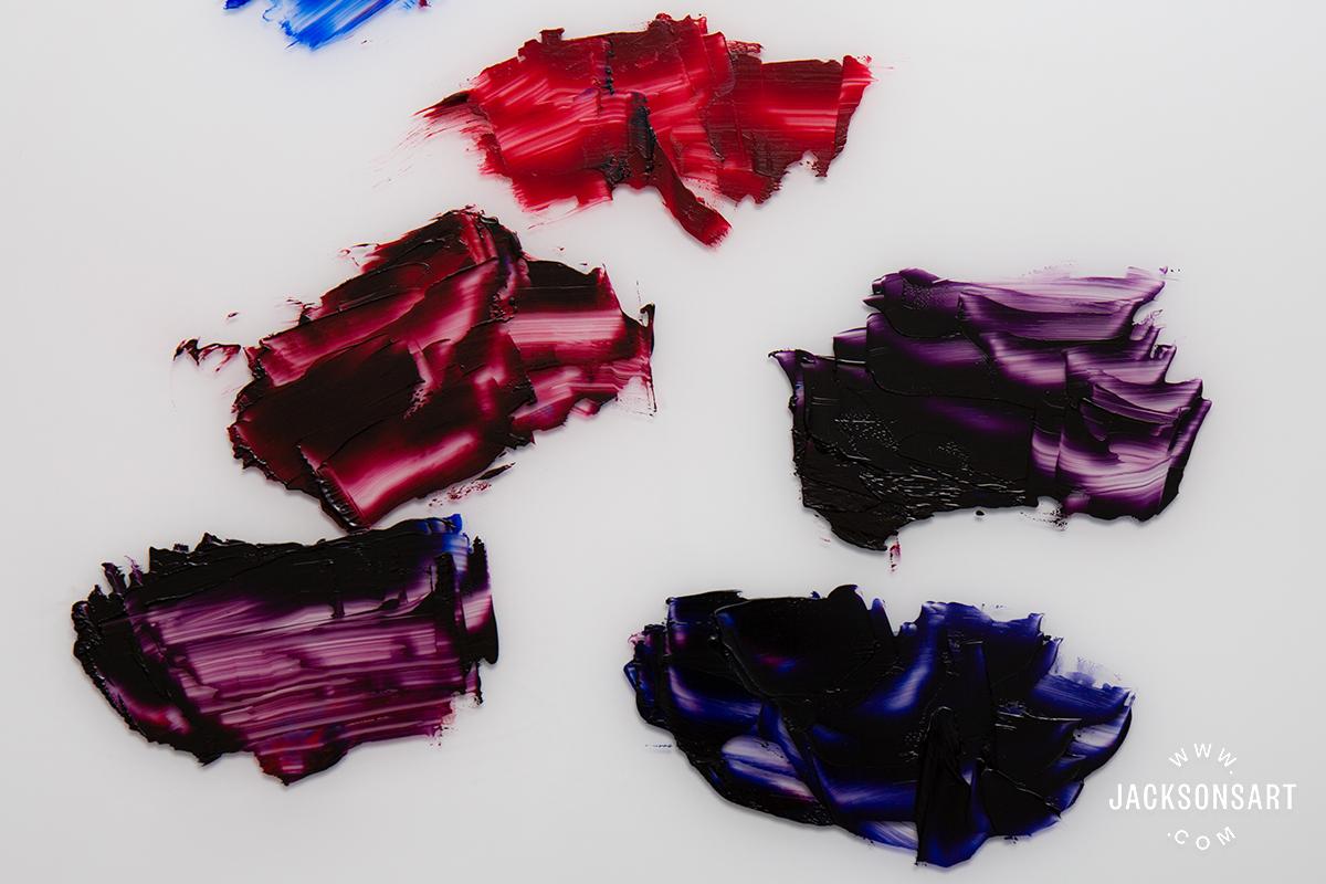 alizarin crimson and ultramarine blue
