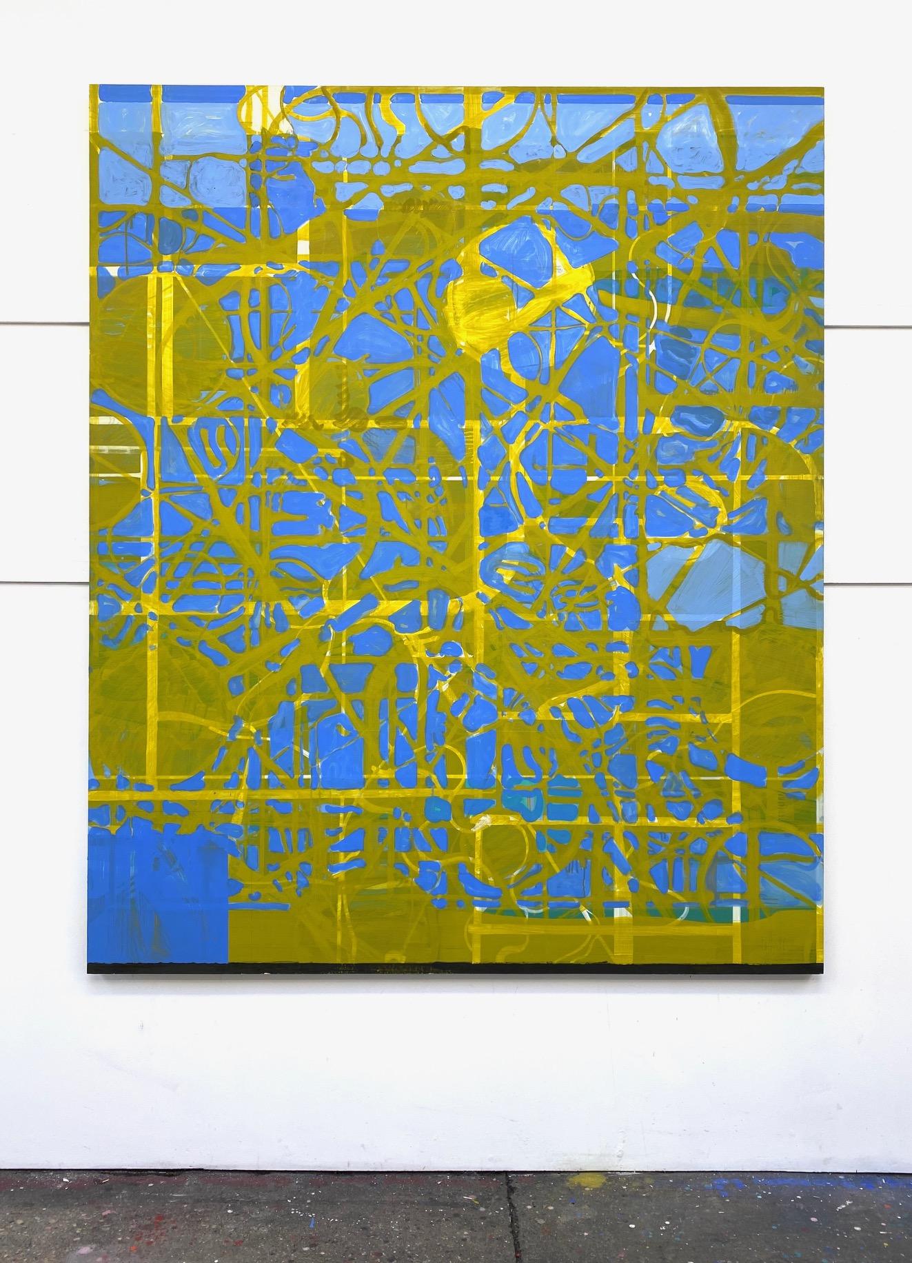 Gatescape, 2019 Matthew Burrows Huile sur panneau, 180 x 150 cm