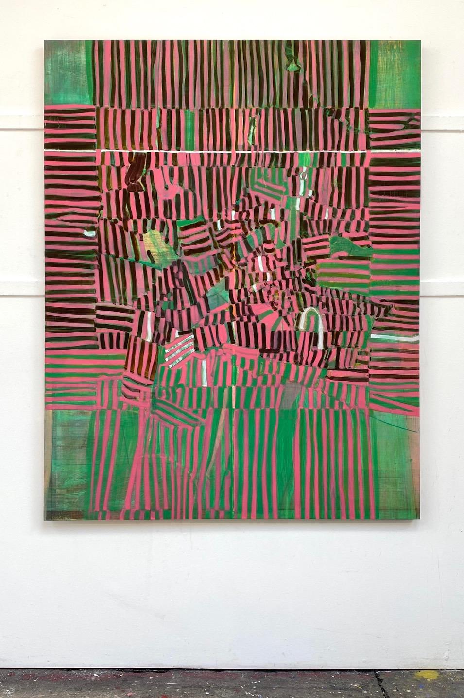 Strata II, 2019 Matthew Burrows Huile sur panneau 152,5 x 120 cm