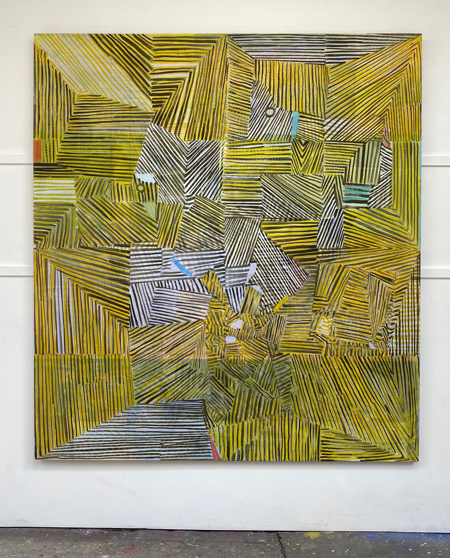 Sterno, 2019 Matthew Burrows Oil on linen, 200 cm x 180 cm