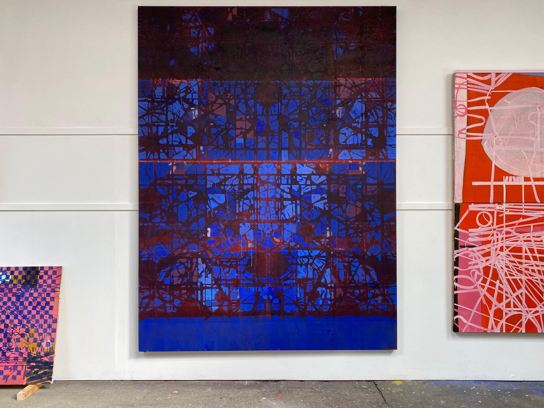 Gate III, 2020 Matthew Burrows Huile sur panneau, 240 x 180 cm