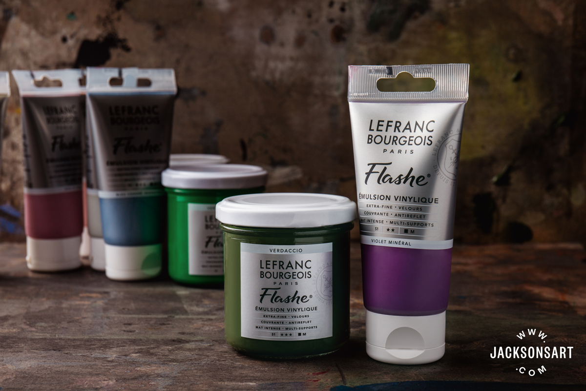 Flashe vinyl emulsion paints