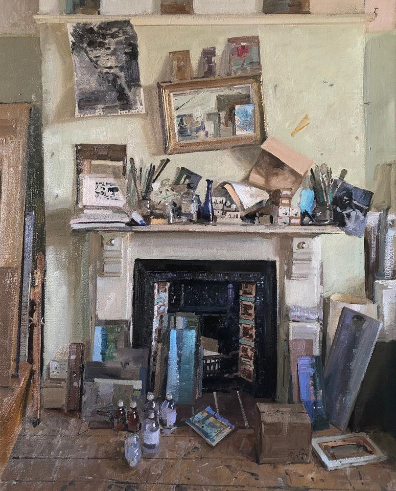 Mantle Piece, 2020 Peter Brown oil on canvas, 25 x 20 in