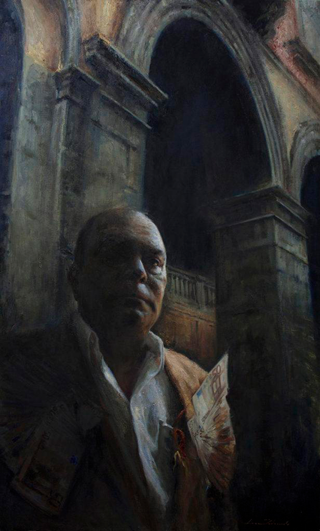 SMF.79.46.70, Luca Indraccolo Oil on Canvas, 85 x 114 cm