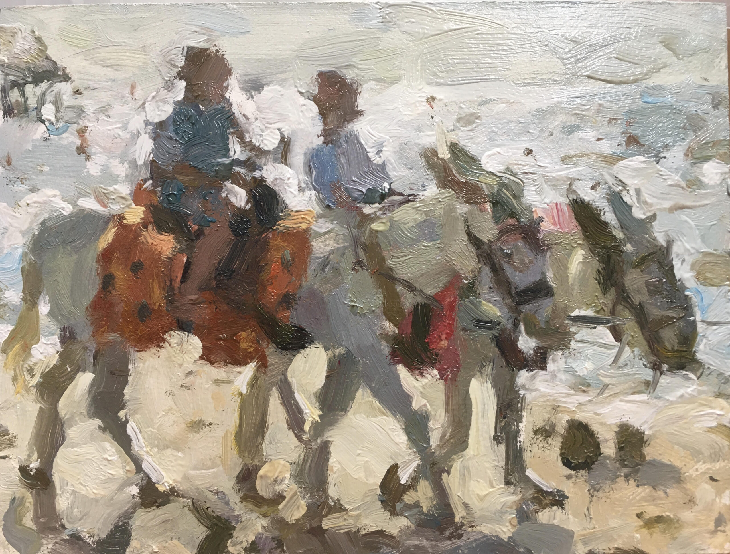 Blackpool Donkeys, 2020 Adam Ralston Oil on canvas, 15.2 x 20.3 cm