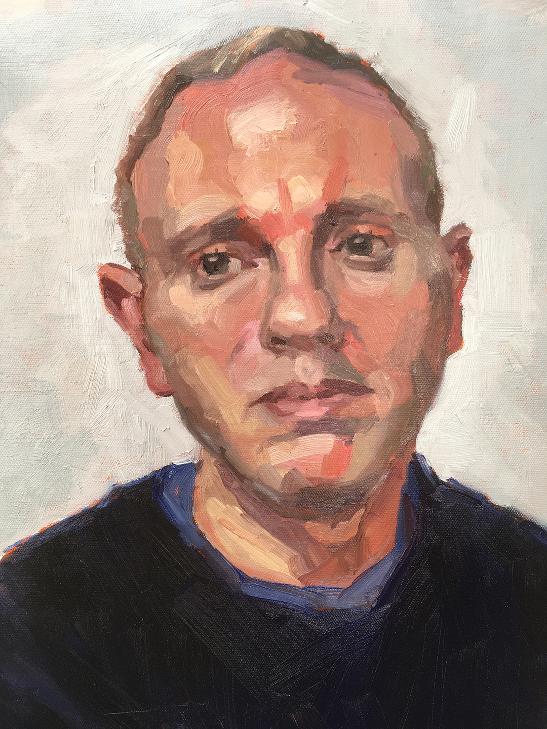 Robert Rinder, 2020 Wendy Barratt Oil on canvas, 45 x 35 cm