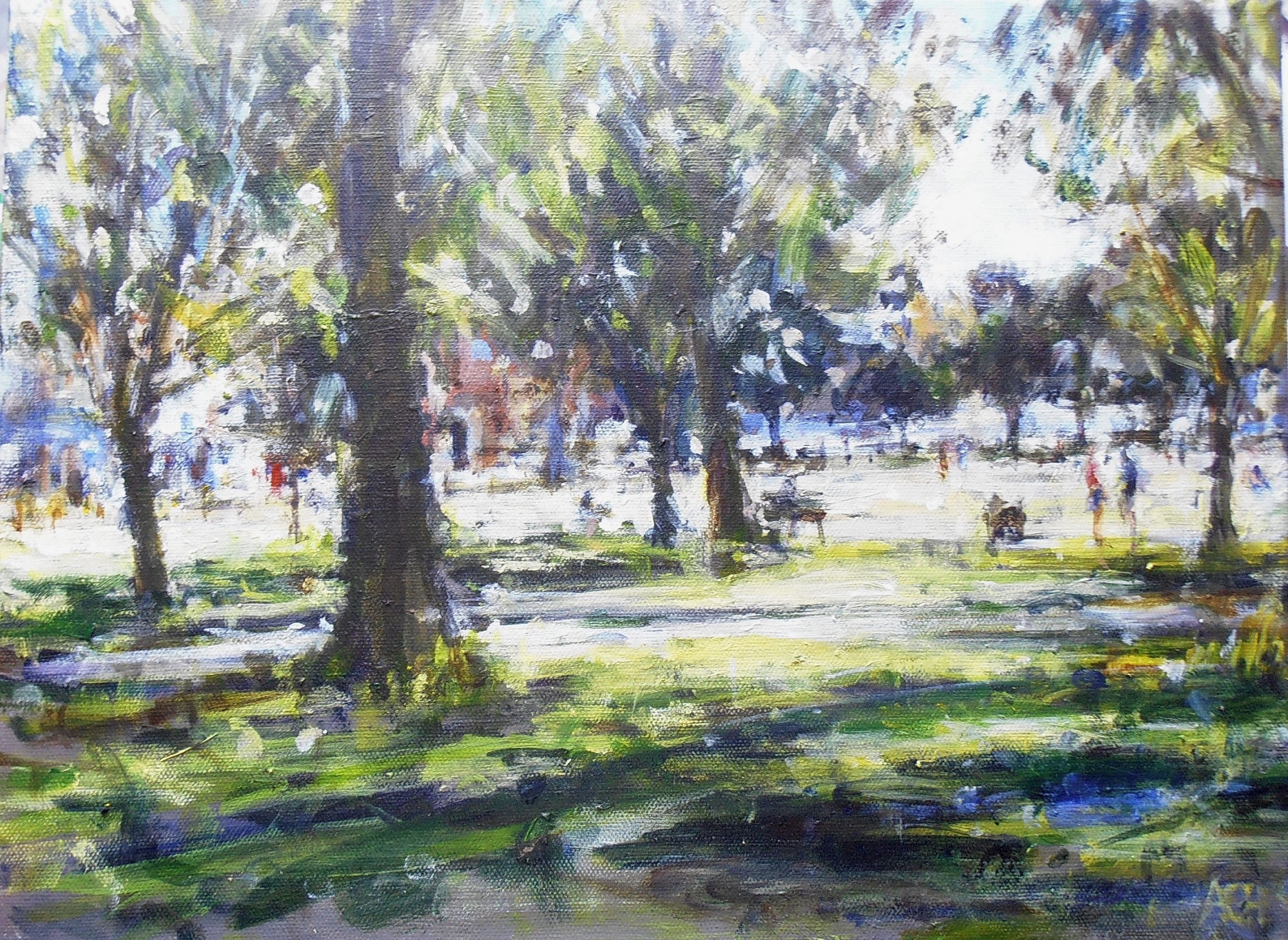 Wandsworth Common Andrew Horrod Acrylic on canvas, 30 x 40 cm