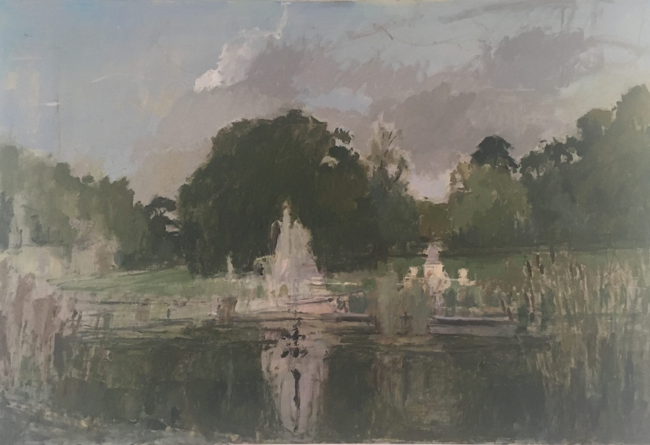Italian Gardens, Hyde Park, Summer, 2020 Jessica Biggs Oil on canvas, 51 x 76cm
