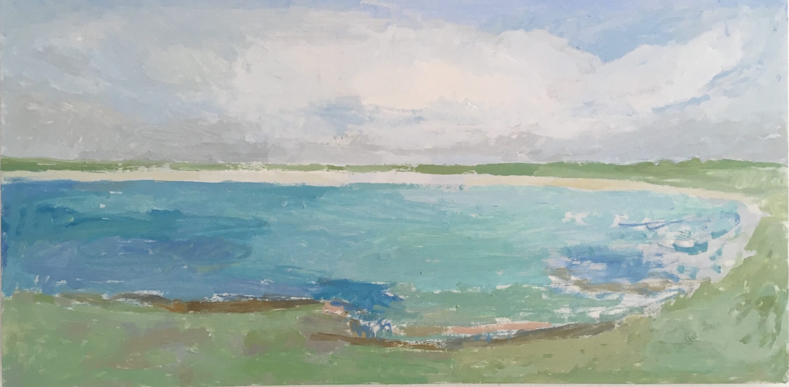 Connemara, West of Ireland, 2020 Jessica Biggs Oil on panel, 30 x 46 cm