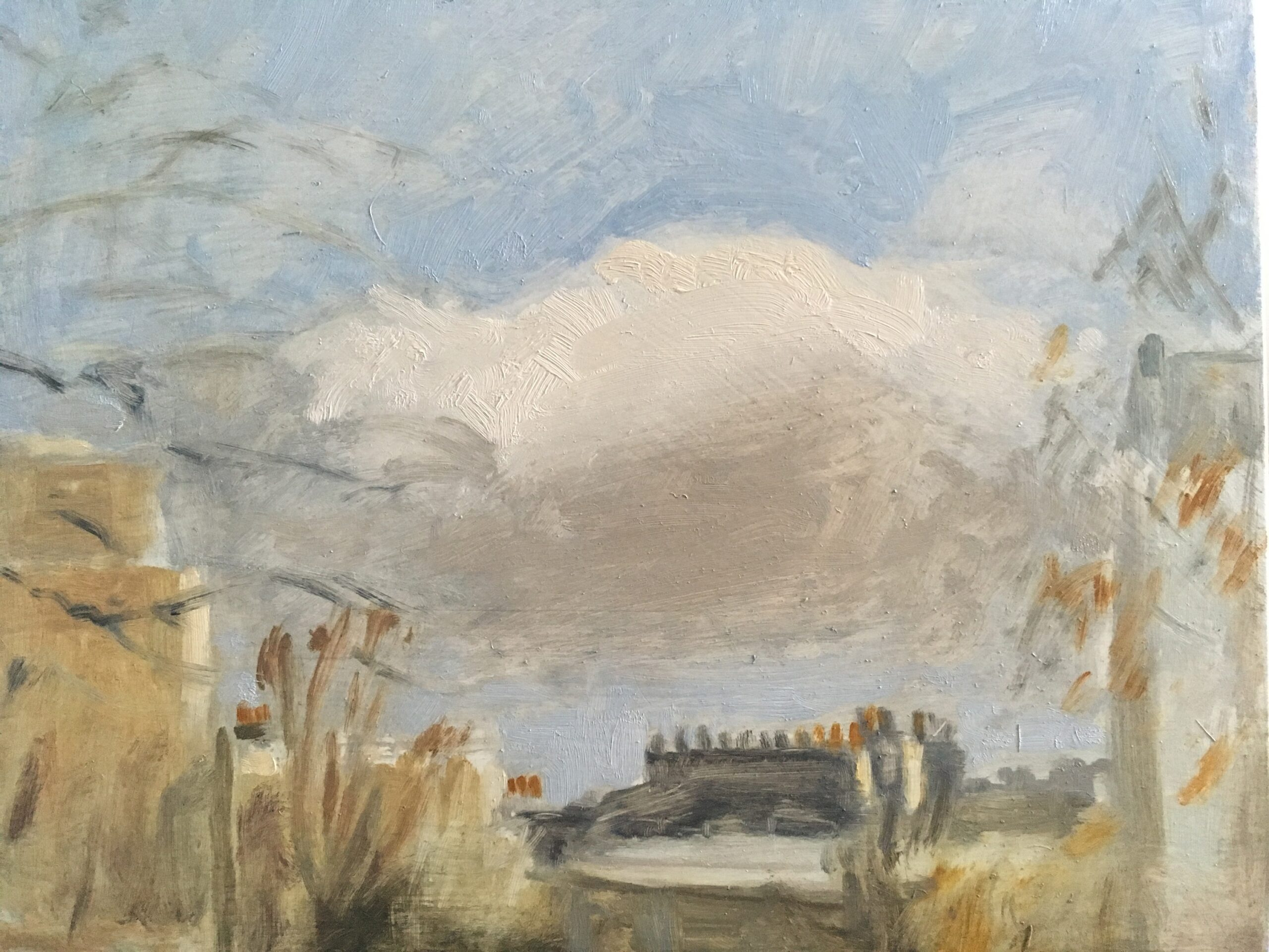 Cloud, Winter Sky, 2020 Jessica Biggs Oil on panel 20.5cm x 25.5cm