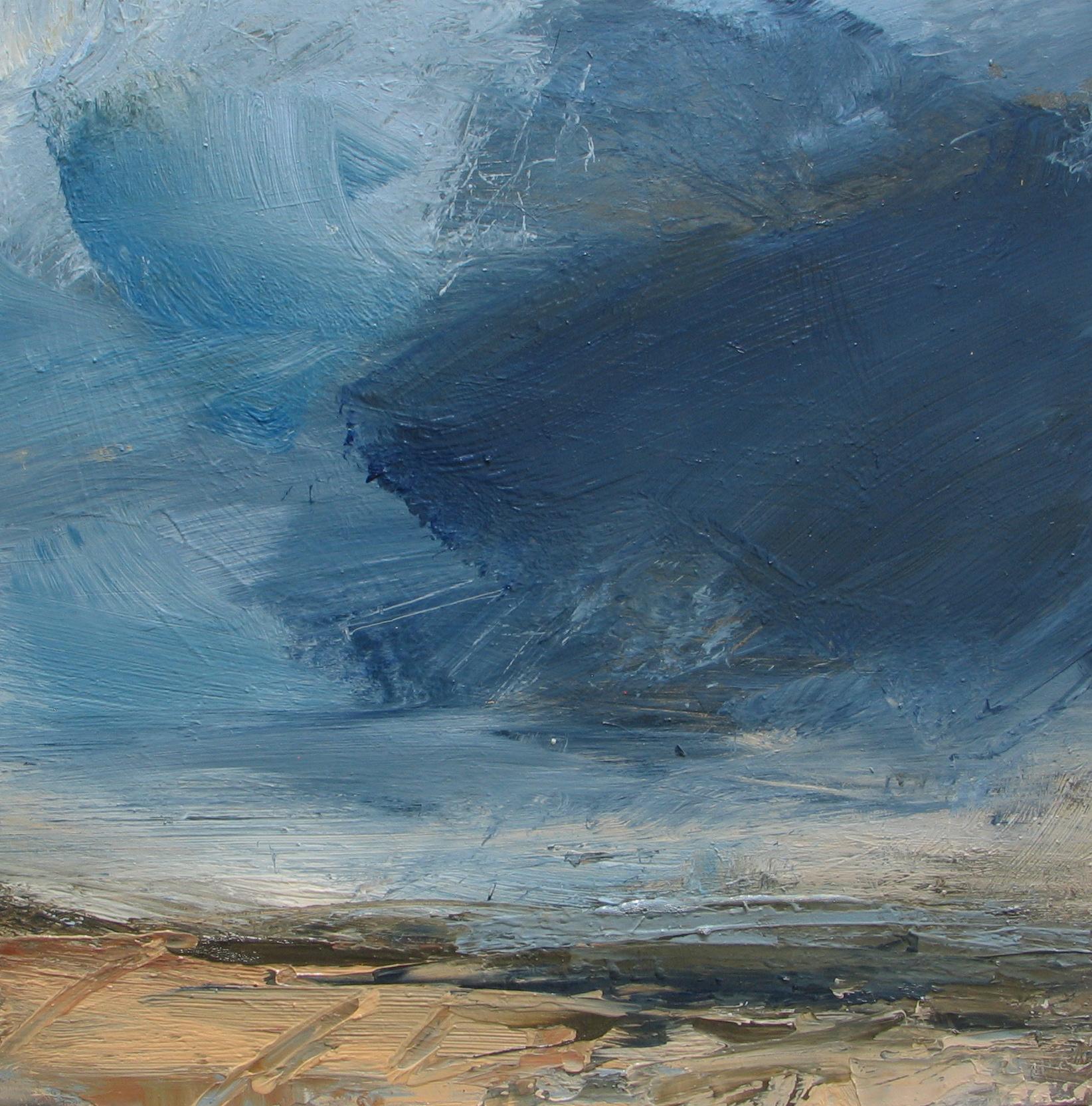 Deep blue cloud, summer storm Louise Balaam Oil on panel, 30 x 30 cm
