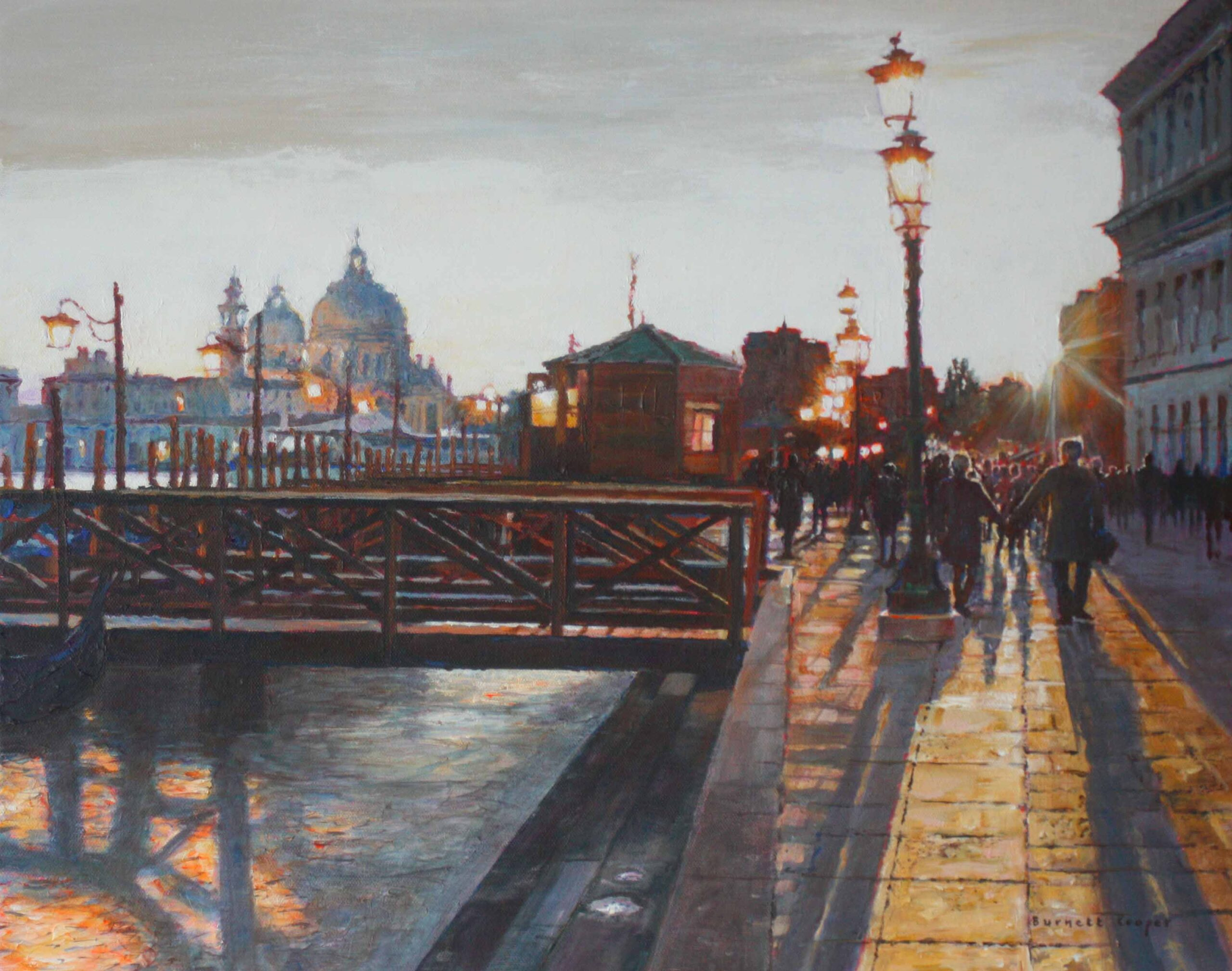 Afternoon stroll, Venice. Hilary Burnett Cooper. Jackson's Painting Prize.