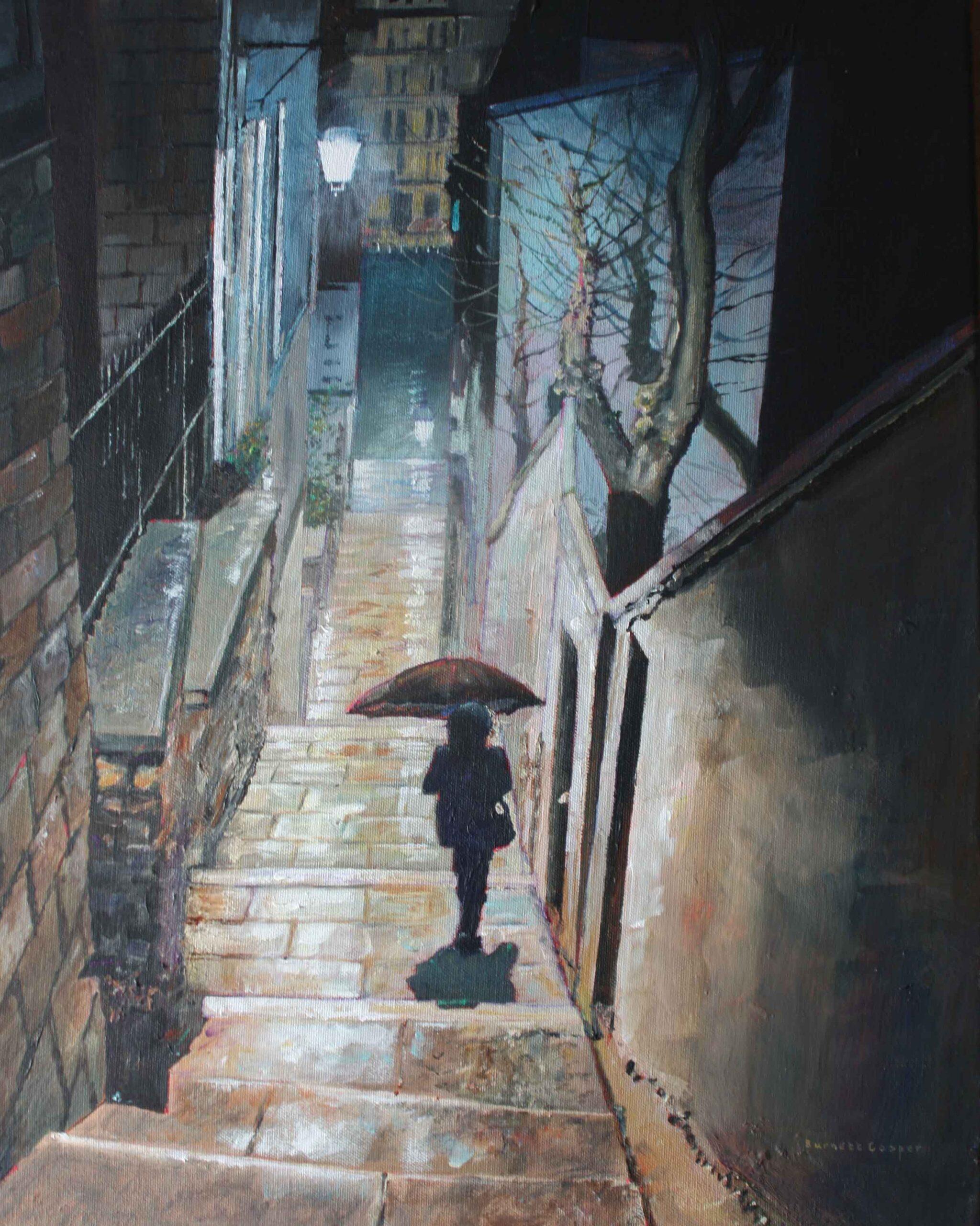 Steps by Montmartre. Hilary Burnett Cooper. Jackson's Painting Prize.