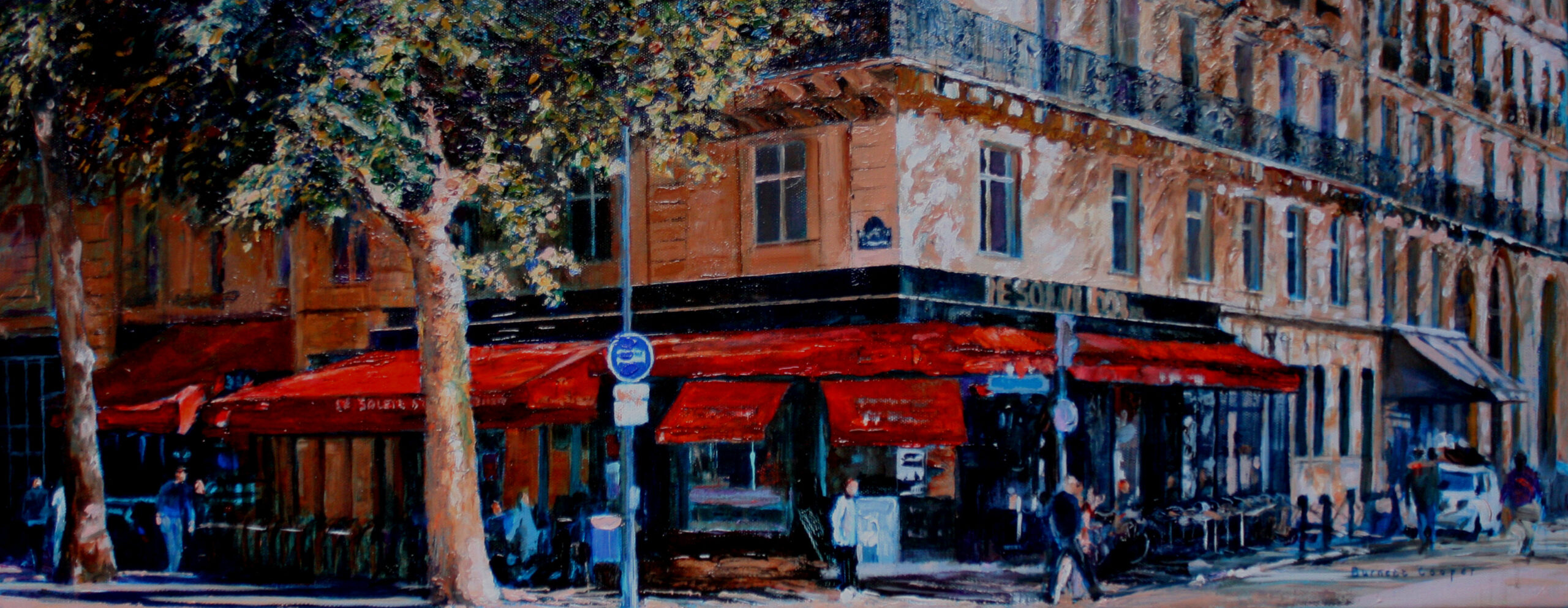 The golden sun cafe. Hilary Burnett Cooper. Jackson's Painting Prize.