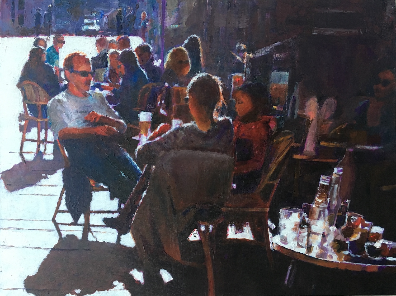 Lunch Parisien style. Hilary Burnett Cooper. Jackson's Painting Prize.