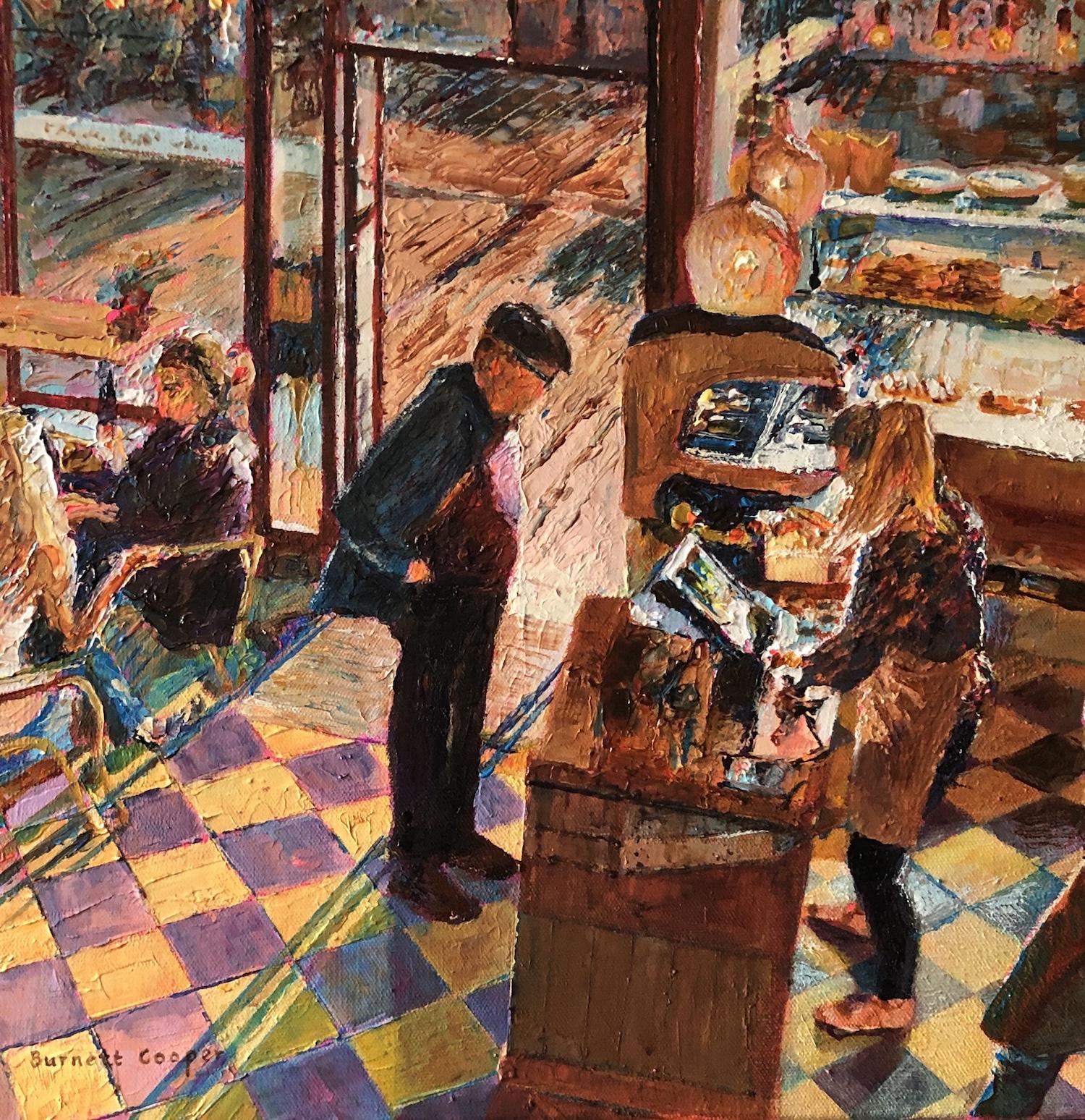 Cafe Shadows, York. Hilary Burnett Cooper. Jackson's Painting Prize.