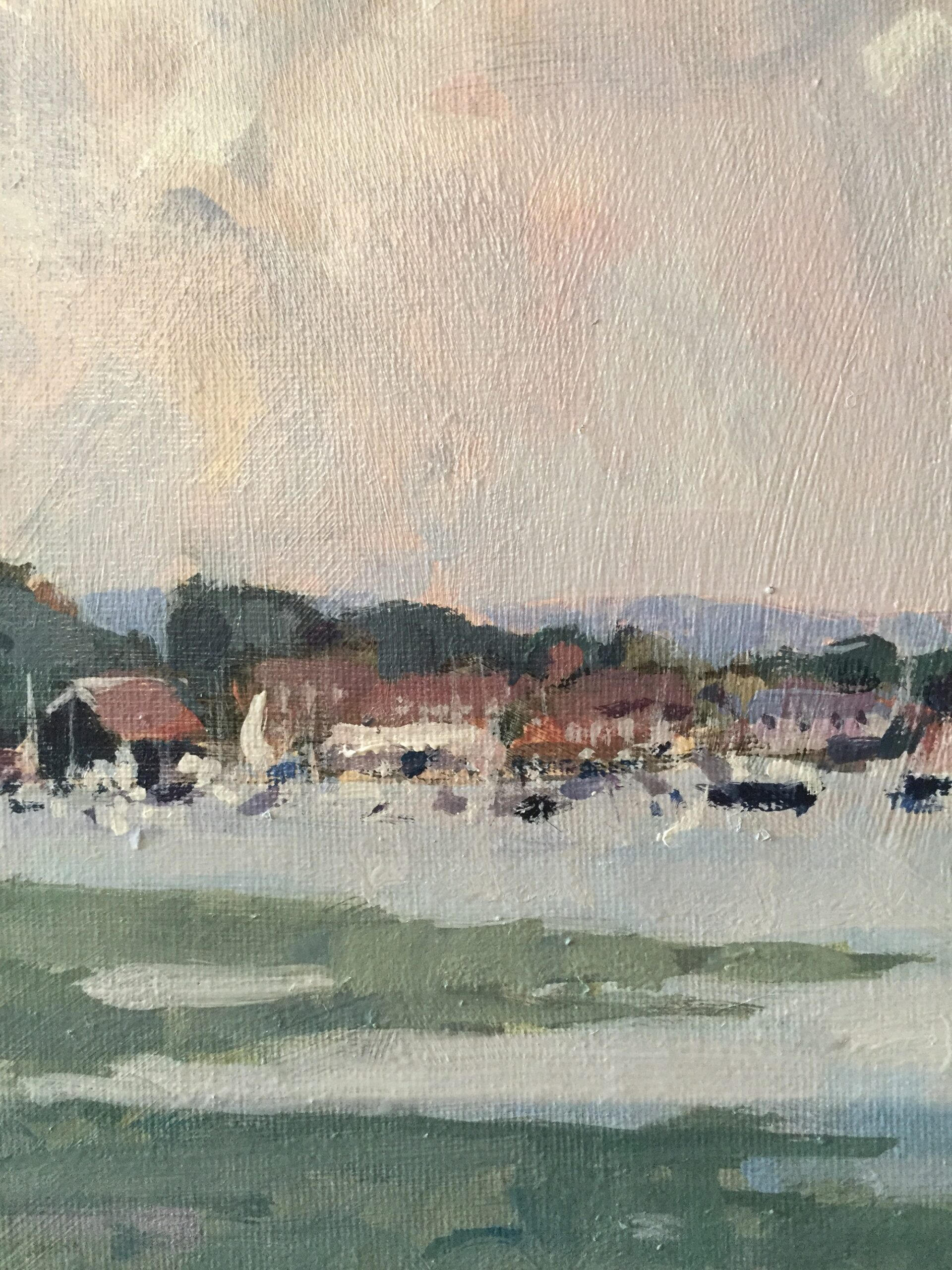 Colour Sketch, Bosham, 2020 Harriet Crichton Acrylic on canvas