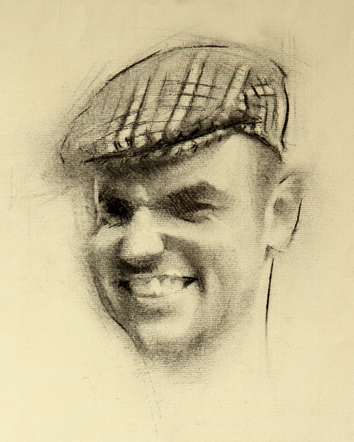 Self Portrait, 2014 Alex Tzavaras Charcoal on paper, 30 x 40 cm