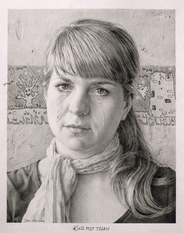 Crying Girl. Jan Muës. Jackson's Painting Prize.