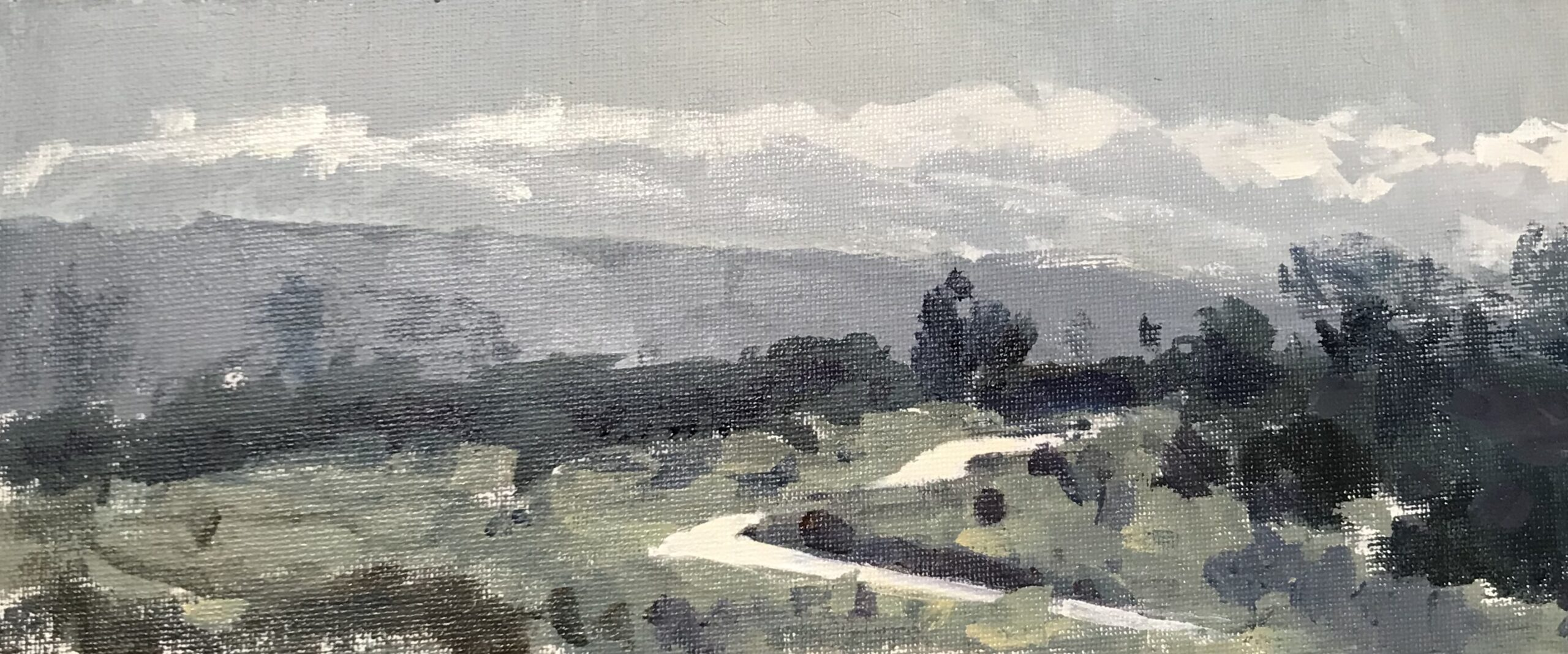 Path on Iping Common, 2020 Harriet Crichton Acryic on canvas