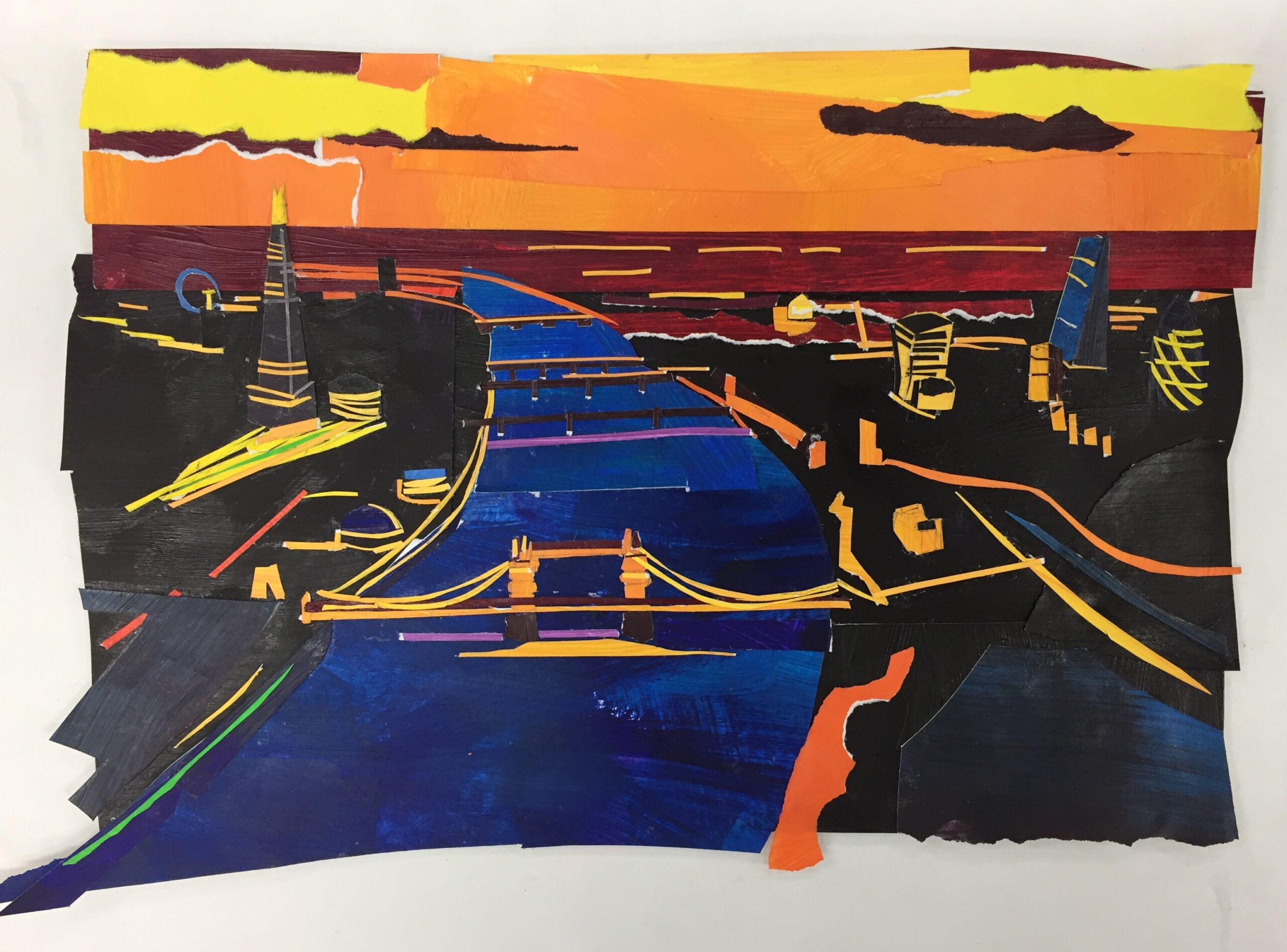 Orange Sky Over London at Night. Raina Goran. Jackson's Painting Prize.
