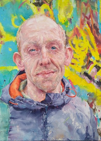 Portrait of the Postman. Angela Bell. Jackson's Painting Prize.