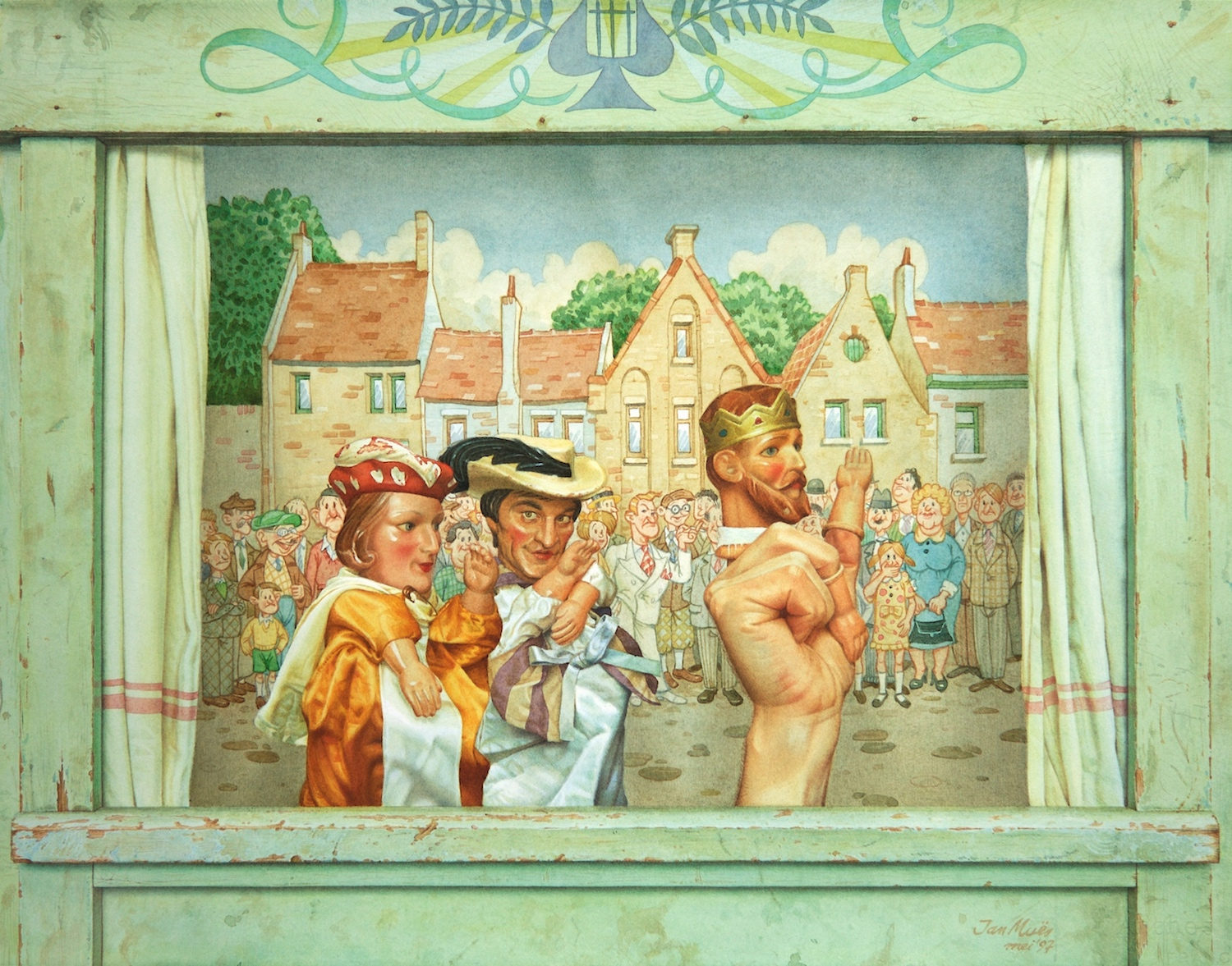 The Emperor's New Clothes. Jan Muës. Jackson's Painting Prize.
