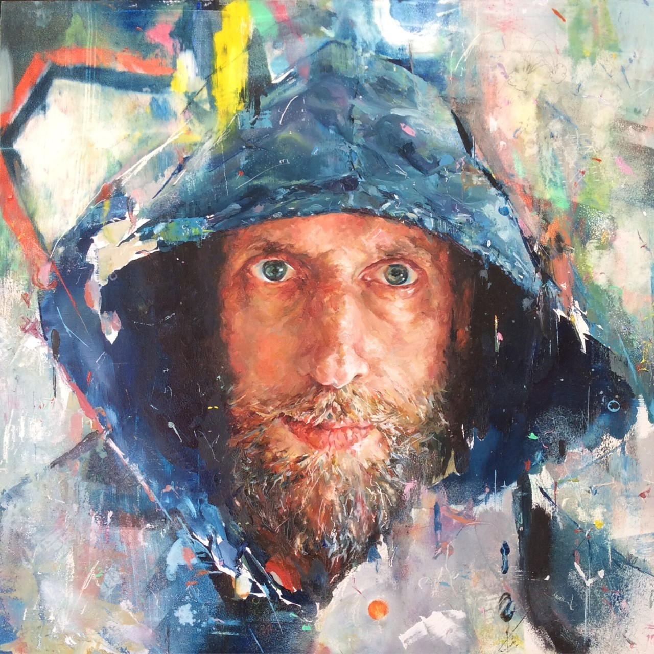 Tom in the hood. Angela Bell. Jackson's Painting Prize.