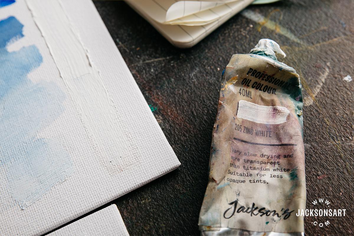 Zinc White Artist Oil Paint