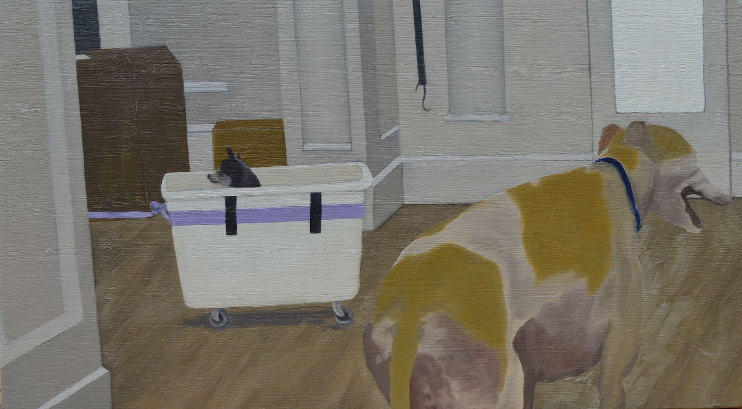 I Made A Train For My Dogs. Maddy Buttling. Jackson's Painting Prize.