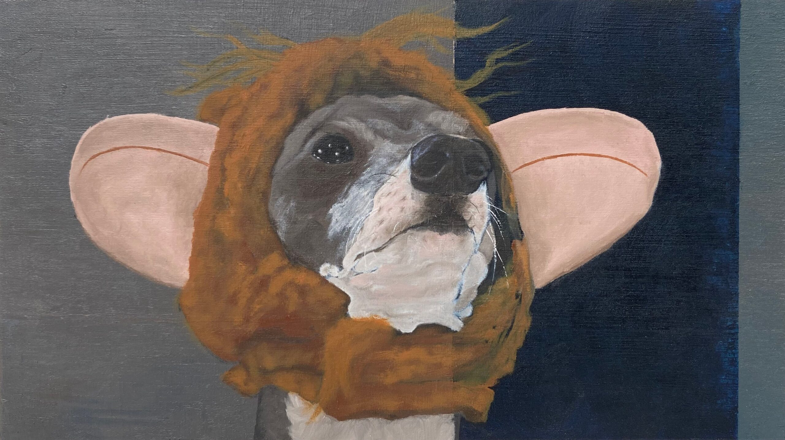 My Dogs Try On Halloween Costumes. Maddy Buttling. Jackson's Painting Prize.