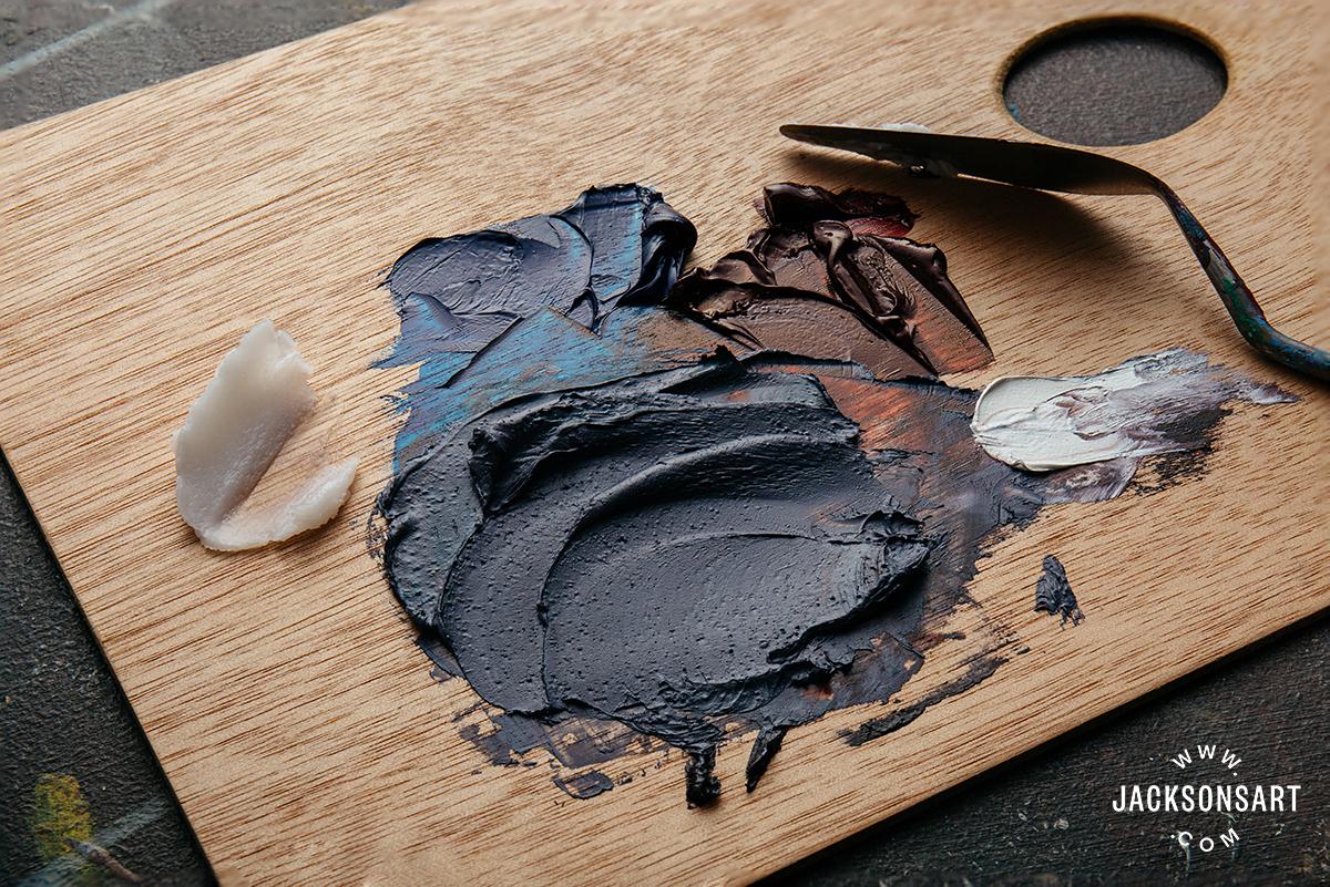 adding impasto medium to oil paint for stiffer body