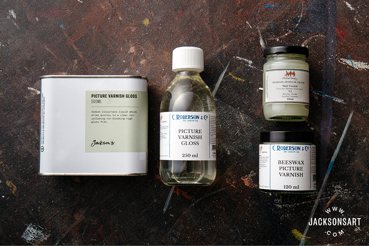 Oil paint varnishes matt, satin, gloss