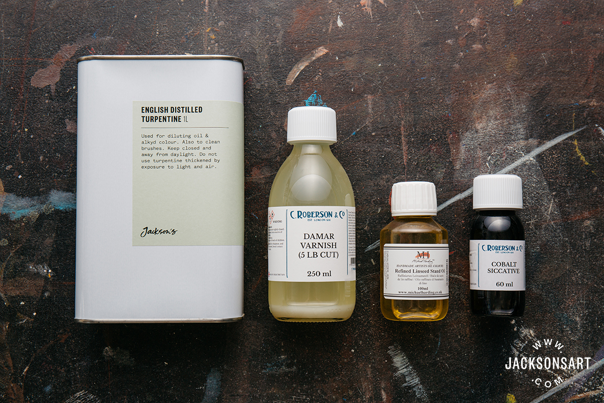 Ingredients for making a fast-drying medium
