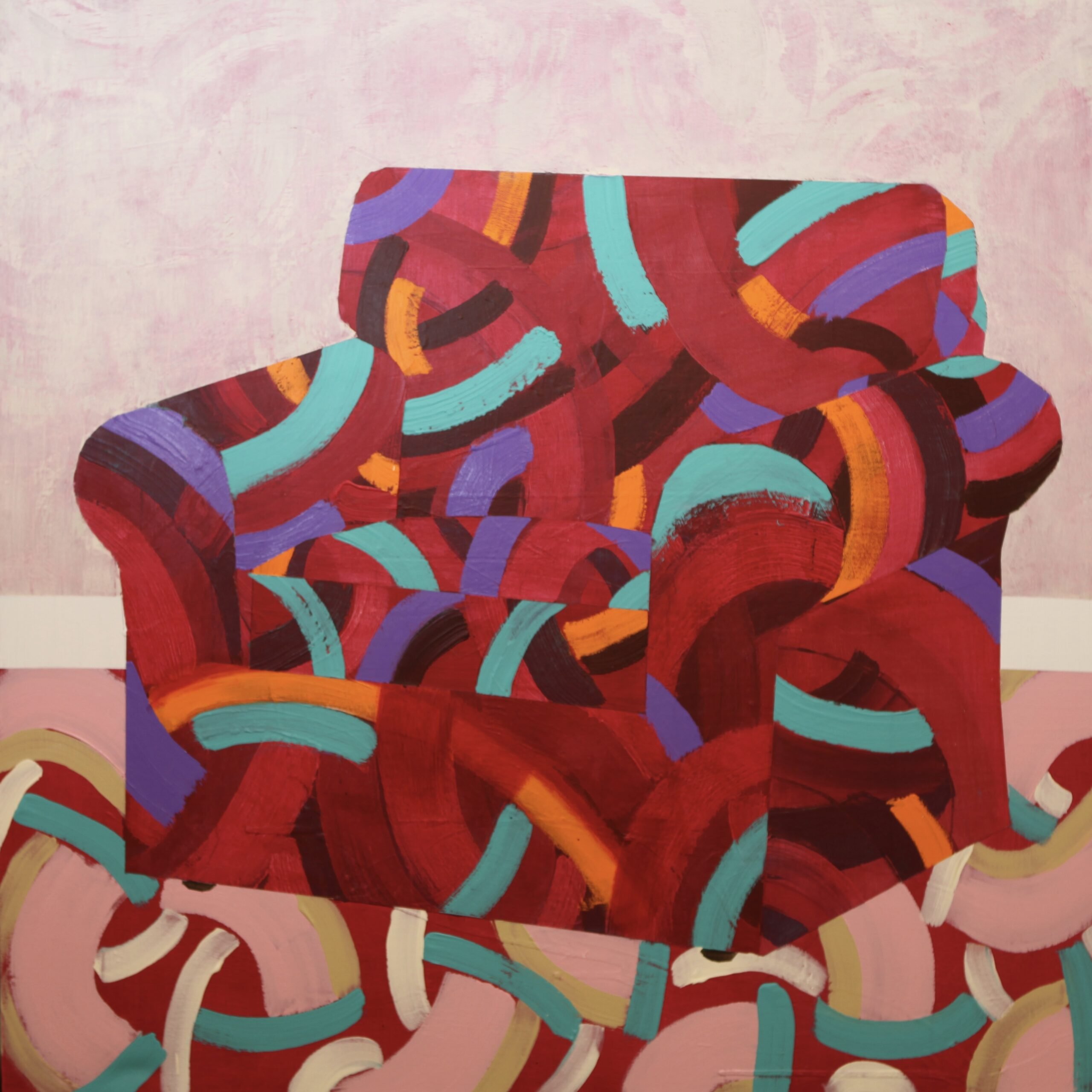 Red Chair. Charles Inge. Jackson's Painting Prize.
