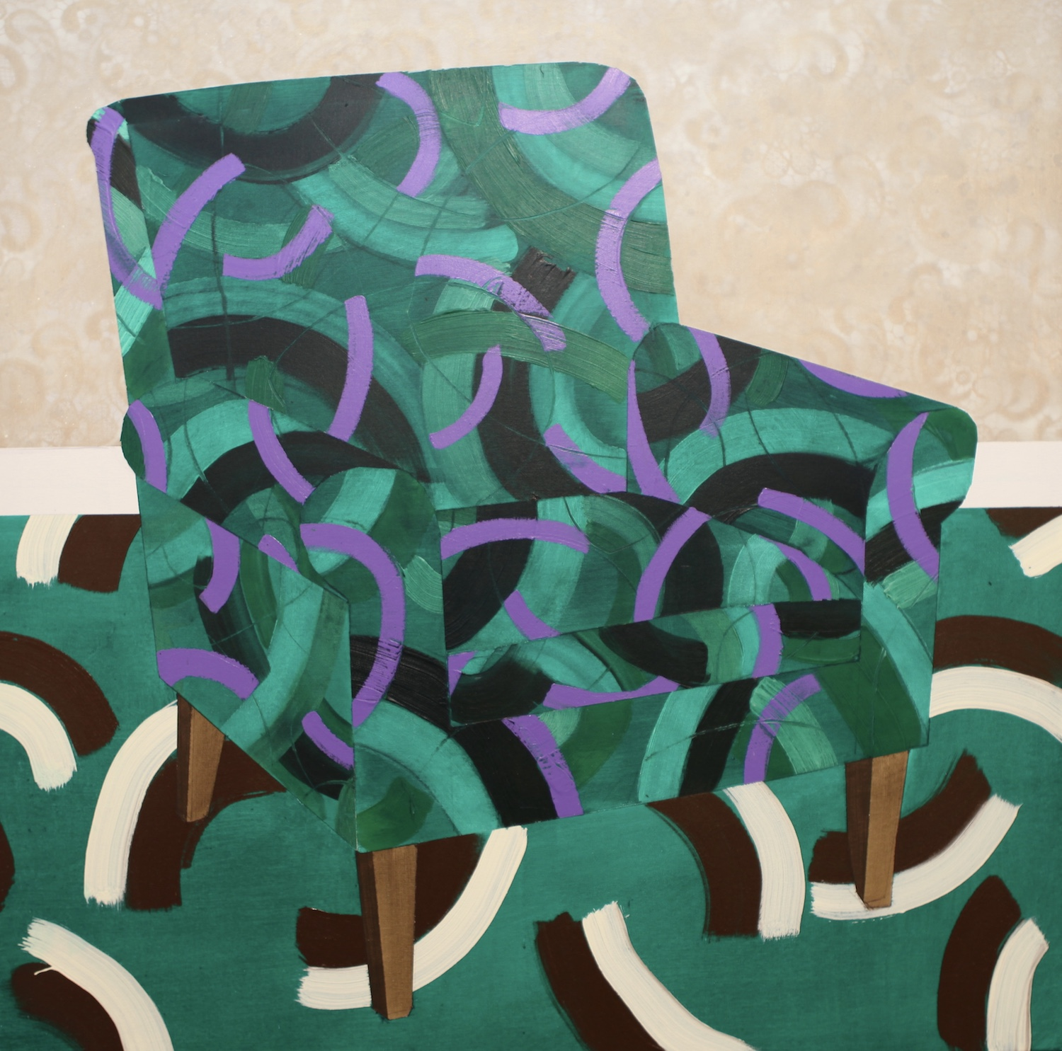 Green chair. Charles Inge. Jackson's Painting Prize.