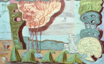 Pile of Trees with Curtain and Young Elm. Angelina Davis. Jackson's Painting Prize.
