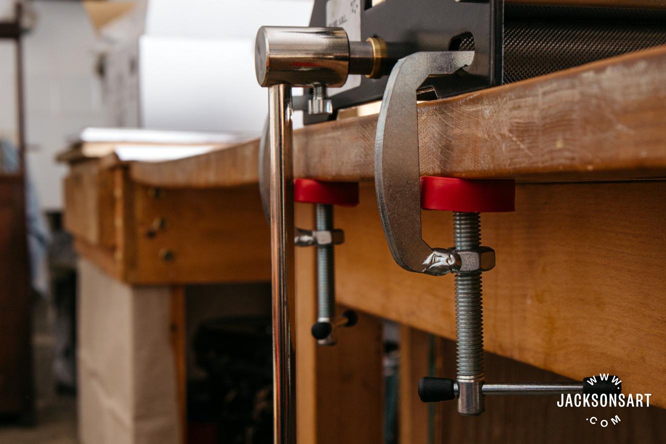 Jackson's Fome etching press