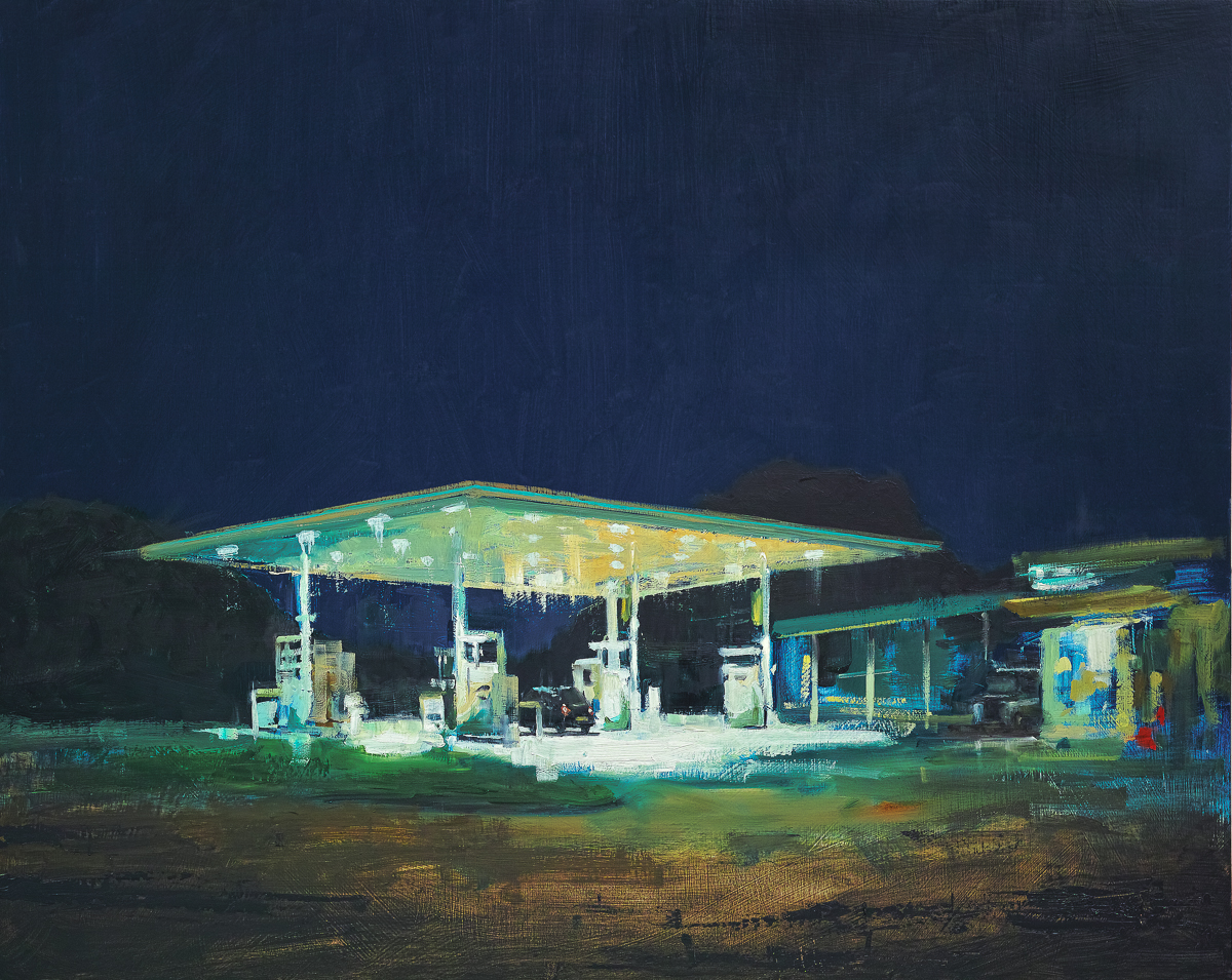 Service Station Night. Tim Goffe. Jackson's Painting Prize.