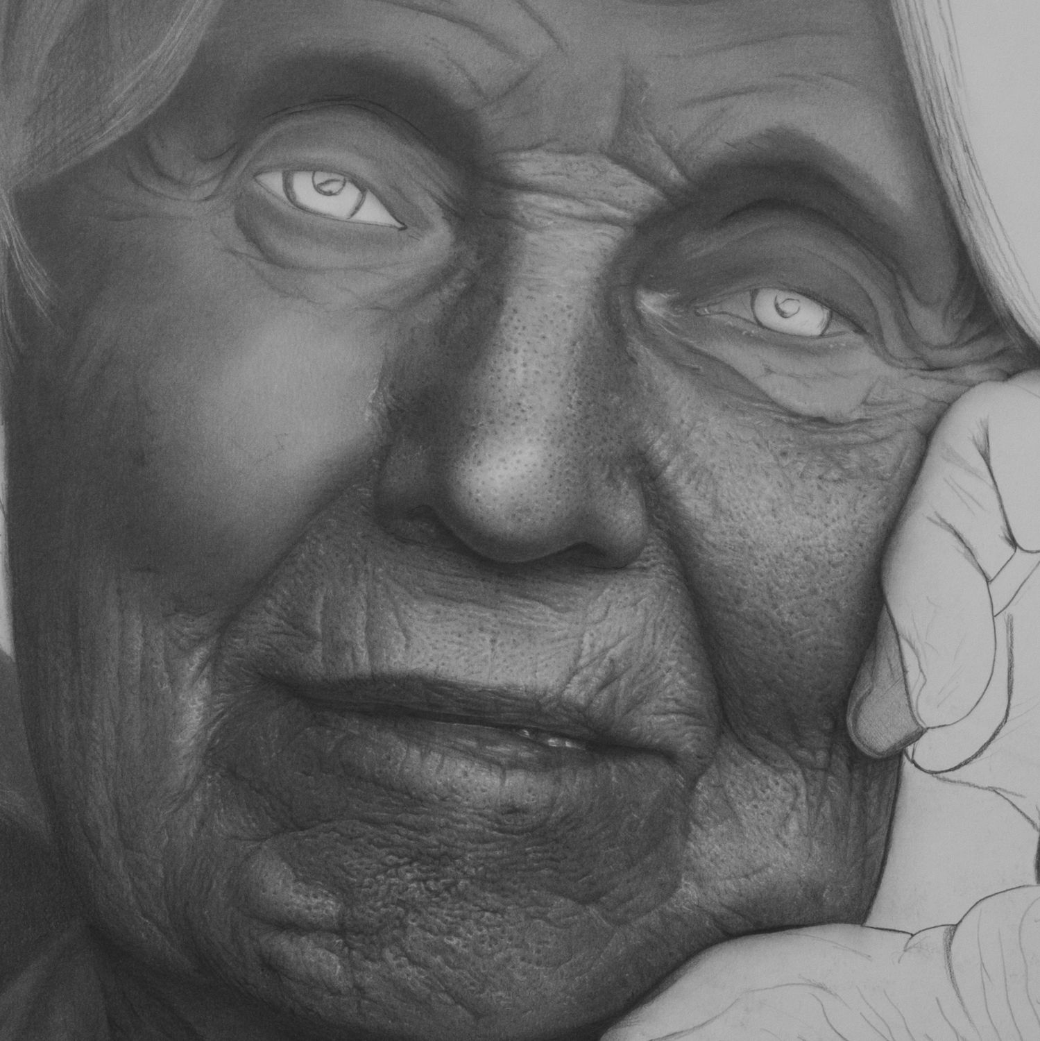 Matriarch Work In Progress. Emma Towers-Evans. Jackson's Painting Prize.