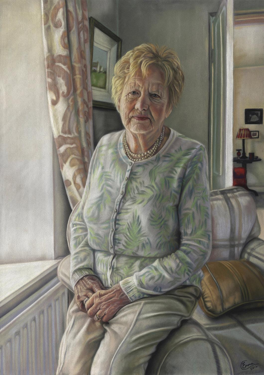 Portrait Commission. Emma Colbert. Jackson's Painting Prize.