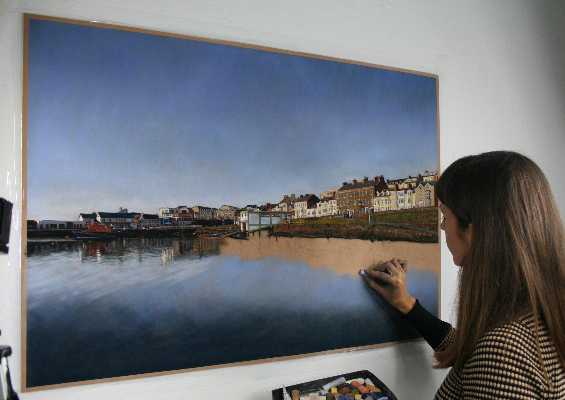 WIP Reflecting on Portrush. Emma Colbert. Jackson's Painting Prize.