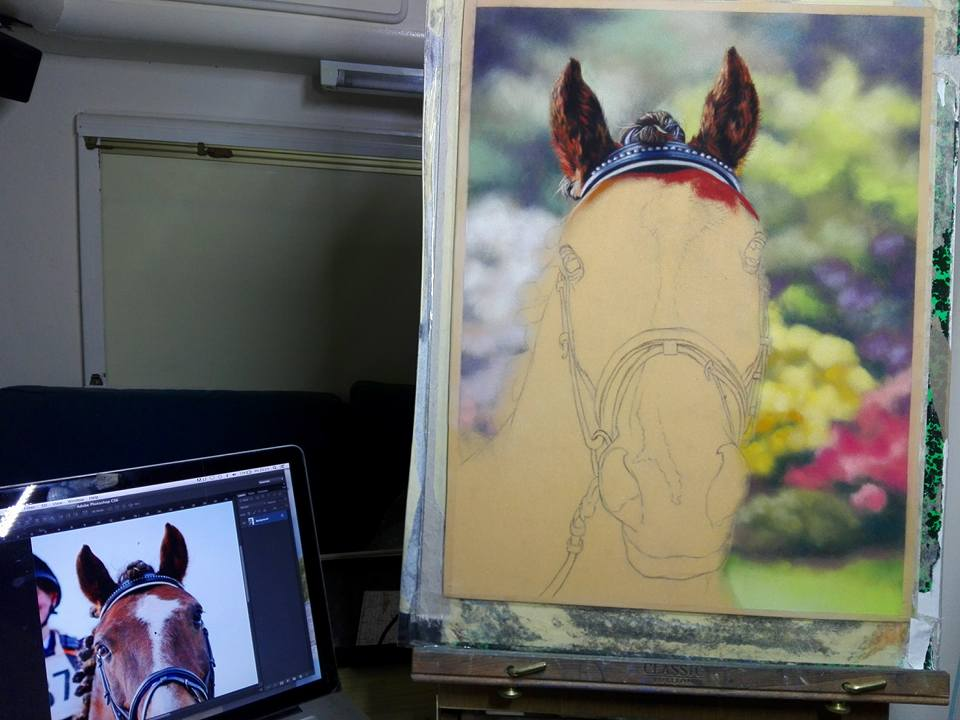 WIP Horse Commission: Emma Colbert. Jackson's Painting Prize.