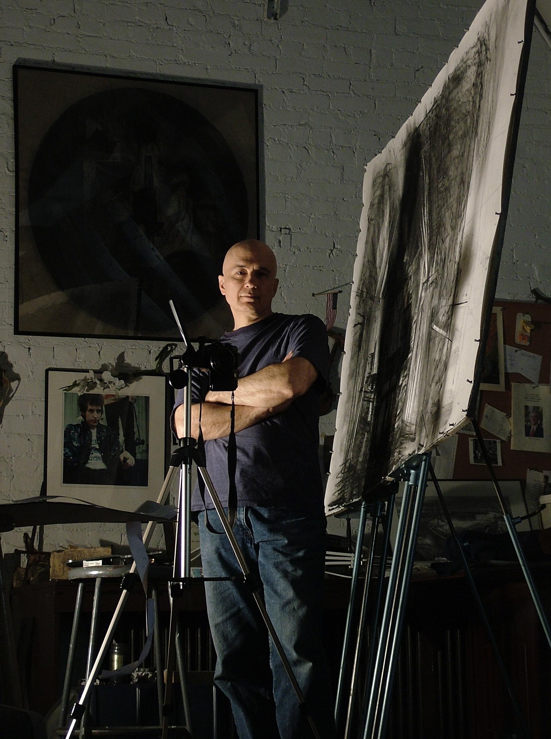 Bill Murphy in his studio.