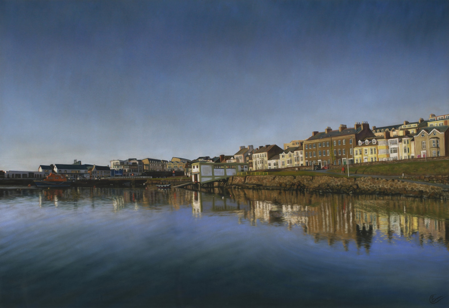 Reflecting on Portrush. Emma Colbert. Jackson's Painting Prize.