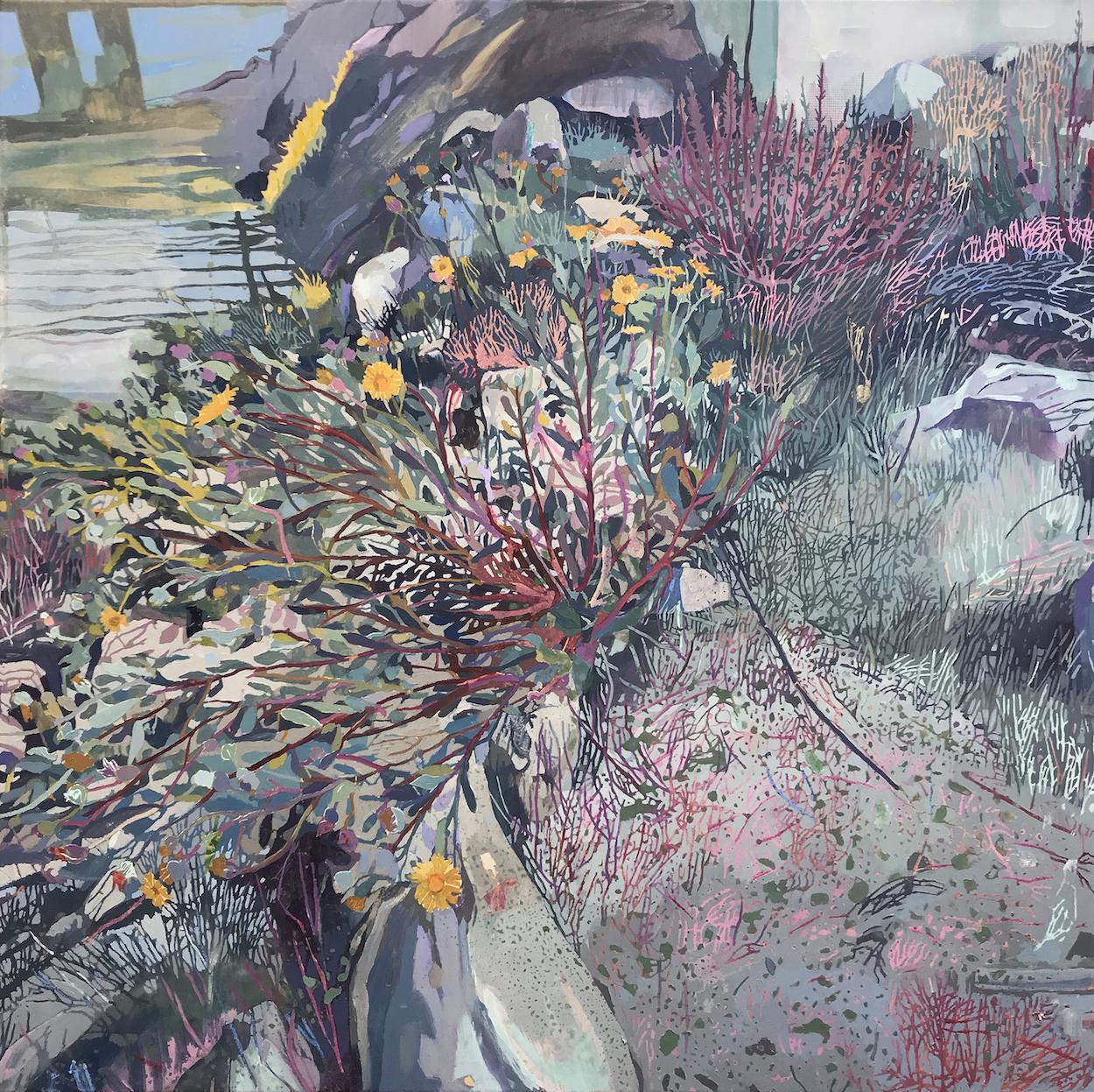 Marina. Fox and Cubs. Conrad Clarke. Jackson's Painting Prize.