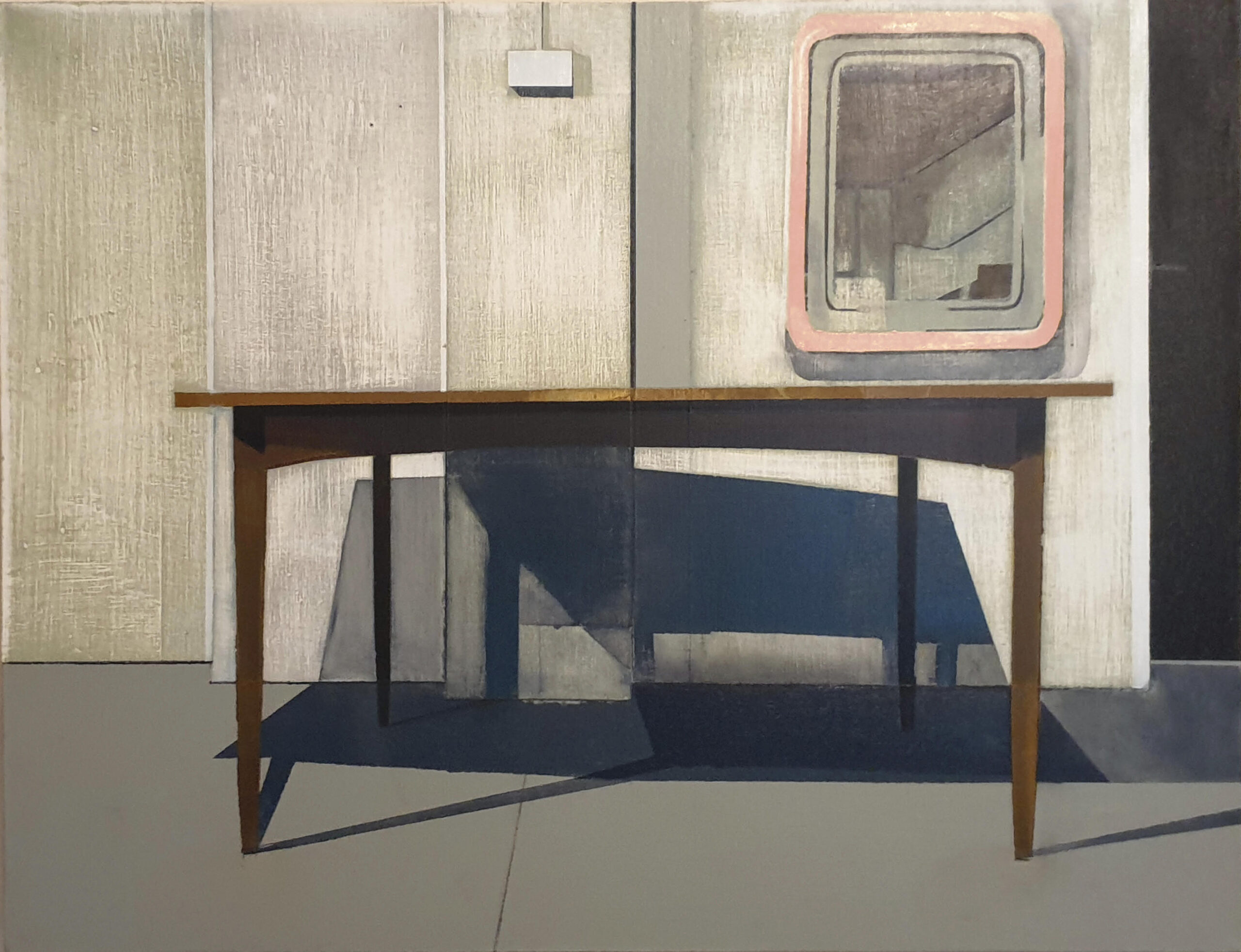 Dining Table with Mirror. Richard Baker. Jackson's Painting Prize.
