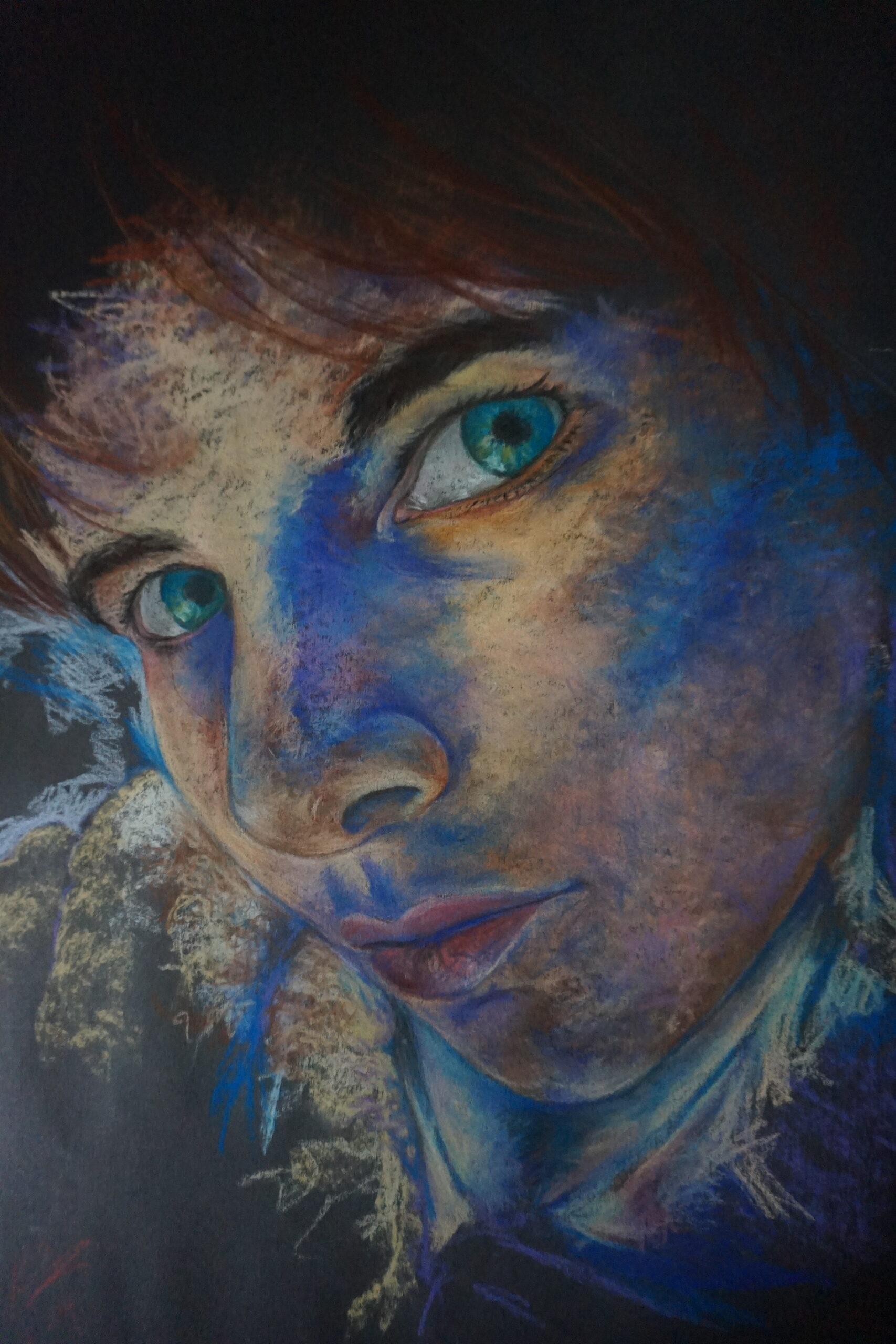Kimberley Bevan: Portrait study in pastels