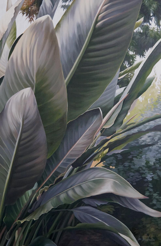 Plant related self portrait. Ieva Kampe-Krumholca. Jackson's Painting Prize.